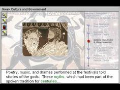 Greek Culture and Government (The World in Greek Times Part 3) - http://www.zaneeducation.com - Examine the connections between historical events and the literary figures and works of the Greek era. Philosophical movements and ideas are illustrated through the exploration of the lives and works of Socrates, Plato, Lao-Tzu, Confucius, Siddhartha Gautama, Aesop, and Pythagoras. Learn about important events that happened in world history during the time of the ancient Greeks, between...