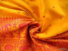 Vintage Indian Pure Silk Handloom Saree / Sari / by theDelhiStore, $25.00