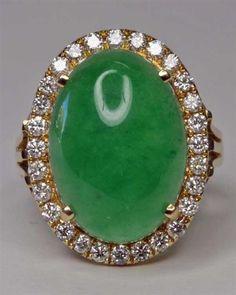 Jade and Diamond ring, love this