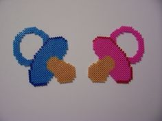 Pacifiers hama perler beads by Shazann