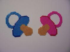 Pacifiers hama perler beads by Shazann