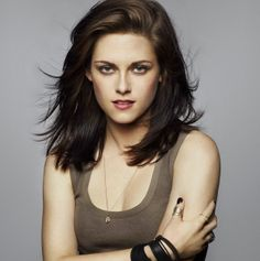 Kristen Stewart. This is about what stage of growth my hair is at, and I so badly want mine to look like this. How do you get hair so smooth without looking flat ironed or frizzy from a blow dryer?!