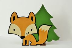 How adorable are these Woodland Animal Themed Birthday Party Centerpieces? The best part, after your Forest Friends party, you can remove the easel
