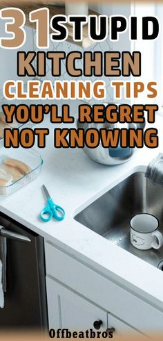 Having a clean kitchen is extremely important if you want to have a clean home. However, kitchen cleaning is one of the most dreaded task so most of us tend to ignore it. Thankfully there are plenty of kitchen cleaning tips and tricks that will make Household Cleaning Tips, Deep Cleaning Tips, Toilet Cleaning, House Cleaning Tips, Diy Cleaning Products, Spring Cleaning, Cleaning Hacks, Kitchen Cleaning Tips, Cleaning Maid