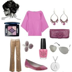 Pink and Lavender, created by jenhaught.polyvore.com