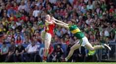 Cork's Colm O'Neill gets a shot in despite the efforts of Kerry's Killian Young Tractors, Cool Pictures, Irish, Action, Football, Sports, Photos, Hs Sports, Group Action