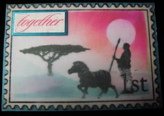 Out Of Africa - Stamped & Brayered
