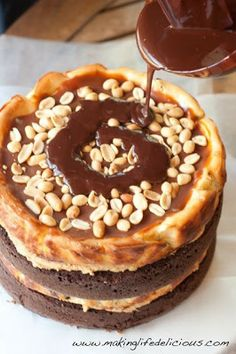 Five Peanut Butter Recipes including Awesome Chocolate Peanut Butter Cheesecake Madness