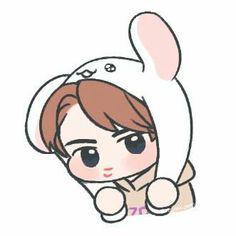 Sehun 🌌 ©noon_yoon Exo Anime, Anime Art, Exo Stickers, Exo Lockscreen, Exo Fan Art, Exo Xiumin, Exo Memes, Bts And Exo, Kpop Fanart