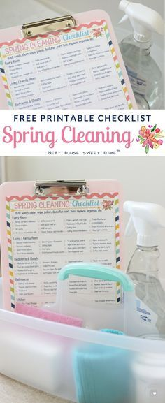 SPRING CLEANING CHECKLIST: Refresh and renew your entire home in 7 days. This free printable spring cleaning checklist will help you get started. Cleaning Dust, Deep Cleaning Tips, House Cleaning Tips, Cleaning Hacks, Cleaning Solutions, Cleaning Schedule Printable, Spring Cleaning Checklist, All Natural Cleaning Products, Spring Clean Up