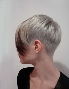 Silver Pixie Cut - Very Short Hairstyles for Long Bangs