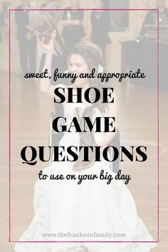 The Best Shoe Game Questions - A Simplified Life - - This hilarious game is guaranteed to give wedding guests a laugh at your reception! Here's a great list of shoe game questions for your big day. Wedding Reception Games For Guests, Wedding Guest Shoes, Shoe Game Wedding, Wedding Rehearsal, Rehearsal Dinners, Wedding Guest Book, Rehearsal Dinner Games, Reception Ideas, Reception Timeline