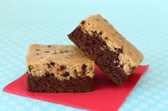 Hungry Girl's Better Brookies ( cookie dough on brownies) Marmite, Ww Desserts, Dessert Recipes, Light Desserts, Sweet Desserts, Brownie Recipes, Dessert Ideas, Snack Recipes, Desserts Sains