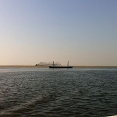 Boot leaving Vlieland.