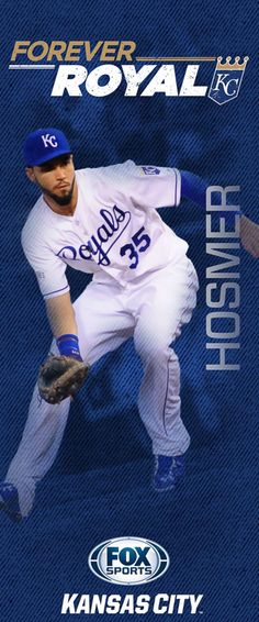 "Every season the Kansas City Royals and FOX Sports Kansas City hang banners at Kauffman Stadium and on streetpoles in the Country Club Plaza. Here are the 2015 ""Forever Royal"" banners -- including banners for three key newcomers to the 2015 team. Kc Royals Baseball, Kansas City Missouri, Kansas City Royals, Fox Sports, Sports Stars, Pole Banners, Eric Hosmer, Sporting Kansas City"