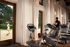 The luxury hotel Four Seasons Hotel in Italy holds two floors completely dedicated for fitness  with a wide variety of strength and cardio equipment supplied by Technogym. #wellnessinhotels #technogym