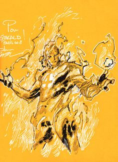 Human Torch by Coipel