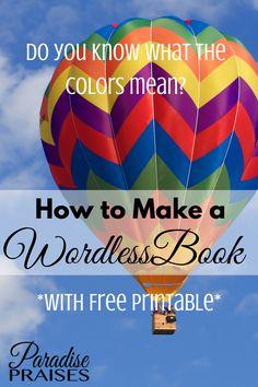 How to Make a Wordless Book via ParadisePraises.com
