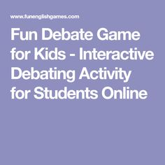 online debate game