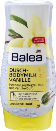 Balea Dusch-Bodymilk Vanille lässt sich auf nasser Haut optimal verteilen und wird von der Haut gut aufgenommen. Die reichhaltige Pflegeformel verleiht...