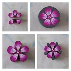 Cane fleur rose / pourpre / gris