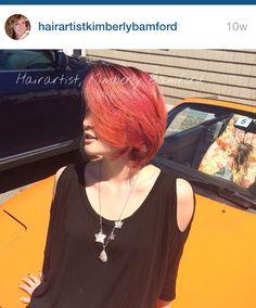 #vivids #haircolor #rasberryhair #pinkhair vivids #newburyport #salisbury #amesbury haircolor