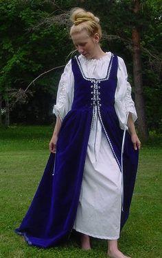 Renaissance Faire Irish dress, Celtic overdress, wedding gown, Scottish Gowns Dresses