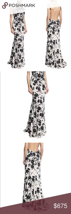 Jovani Embroidered Floral Lace Sleeveless Gown Jovani 2017 - PERFECT CONDITION WORN ONCE FOR AN HOUR Embroidered Floral Lace Beaded Sleeveless Gown, Black/White #2150488 EXCLUSIVELY AT NEIMAN MARCUS Jovani gown featuring contrast floral embroidery over floral lace. High neckline; low-cut back. Sleeveless; cut-in shoulders. Fitted silhouette. Slightly flared skirt. Polyester. Imported. Fashion forward and classic, gowns are as unique as you are. Beyond evening wear, the New York-based line…