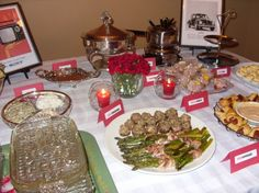 Mad Men Party  - great appetizer ideas!