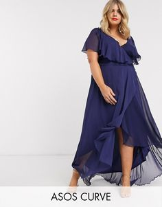 Buy ASOS DESIGN Curve cape back dipped hem maxi dress at ASOS. Get the latest trends with ASOS now. Plus Size Maxi, Plus Size Dresses, Plus Size Outfits, Plus Size Womens Clothing, Plus Size Fashion, Clothes For Women, Women's Clothing, Bridesmaid Dresses Plus Size, Asos Bridesmaid