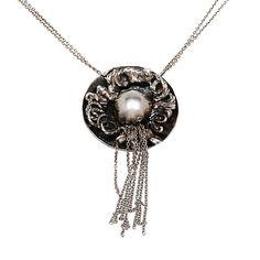 HALSBAND, silver, Rosa Taikon och Bernd Janusch, 1995. Vikt 34,2 g. Jewellery & Gemstones - Collier – Auctionet
