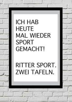 Poster Druck Typo ''Sport'' Wandgestaltung Deko von Lottes Laden auf DaWanda.com