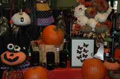 Fall and Halloween themed, items for sale in The Garden Store