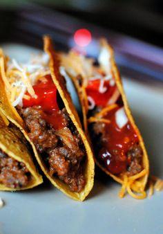 Venison burgers and tacos
