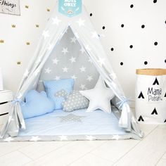 Teepee Set Kids Play Tent Tipi Playhouse Wigwam от MamaPotrafi