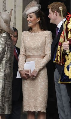 Kate Middleton, Duchess Of Cambridge, Wearing Alexander McQueenAt The Queens Diamond Jubilee Celebrations, 2012