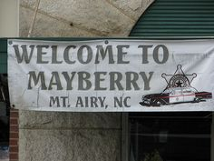 Mount Airy, aka Mayberry, NC, home of Andy Griffith by schoolbus159, via Flickr