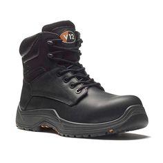 ef7dd851e53 V12 Bison VR600 IGS Lightweight Metal Free Black Leather Safety Boots