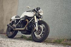 Moto Guzzi cafe racer, big fan
