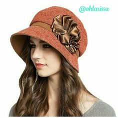 Orange 40's Style Women's Wool Beret See picture 3 for product description Maitose Accessories Hats