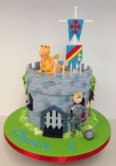 Knight and dragon cake