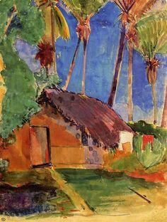 Hut Under the Coconut Palms