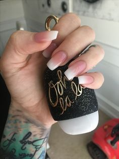 Ombré french tapered square/coffin Nails