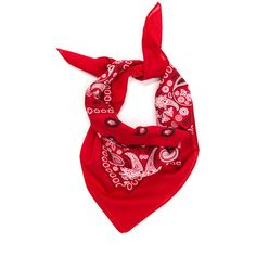 With The Band Paisley Bandana ($2.30) ❤ liked on Polyvore featuring accessories, scarves, red, red paisley bandana, paisley handkerchief, red bandana, paisley bandana and red handkerchief