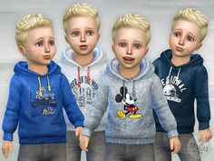 The Sims Resource: Hoodie for Toddler Boys P01 by lillka • Sims 4 Downloads