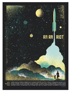 Ra Ra Riot poster by Two Arms Inc (via Adventures in Design)