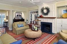 House 'One' - traditional - Living Room - Omaha - Cramer Kreski Designs
