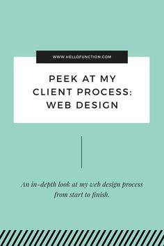 My Client Process Part Web Design — Function Creative Co. - Peek at my client process: Web Design. An in-depth look at my web design process from start to fini - Design Websites, Online Web Design, Website Design Services, Web Design Tips, Web Design Tutorials, Web Design Trends, Web Design Company, Web Design Inspiration, Design Process