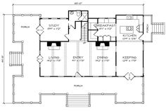 Looking for the best house plans? Check out the Carolina Island House plan from Southern Living. Best House Plans, Modern House Plans, Small House Plans, House Floor Plans, The Plan, How To Plan, Cracker House, Southern Living House Plans, Floor Plan Layout