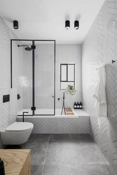 Reported News on Contemporary Bathroom Designs With Freestanding Exposed - f. - Reported News on Contemporary Bathroom Designs With Freestanding Exposed – flipsyourhome - Bathtub Shower Combo, Bathroom Tub Shower, Bathroom Renos, Small Bathroom, Bathroom Ideas, Shower Tiles, Shower With Tub, Shower Over Bath, Relaxing Bathroom